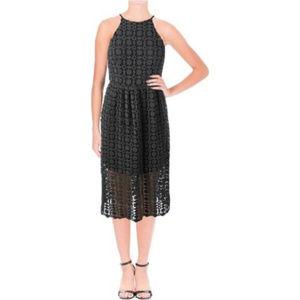 AQUA Womens Lace Sleeveless Midi Dress $98.00